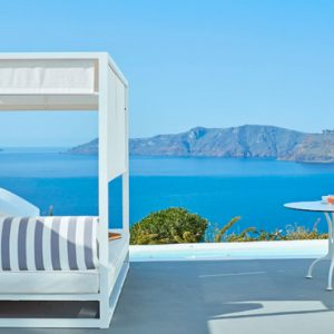 Greece Honeymoon Packages Kirini Santorini Honeymoon Suites With Open Air Jetted Tub