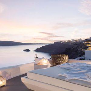Greece Honeymoon Packages Kirini Santorini In Room Dining At Night