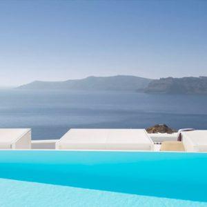 Greece Honeymoon Packages Kirini Santorini Pool And Sea View
