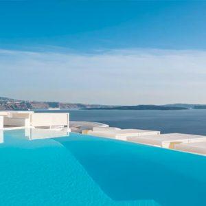 Greece Honeymoon Packages Kirini Santorini Pool Bar Views