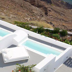 Greece Honeymoon Packages Kirini Santorini Room Pool Aerial View