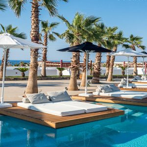 Greece Honeymoon Packages Stella Island Crete Cabana Pool Bar