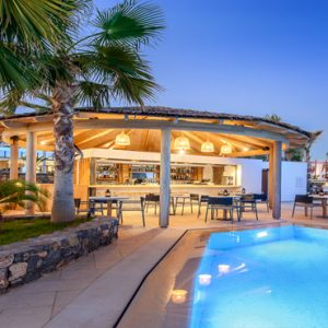 Greece Honeymoon Packages Stella Island Crete Cabana Pool Bar3