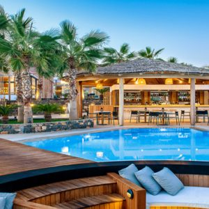Greece Honeymoon Packages Stella Island Crete Cabana Pool Bar4