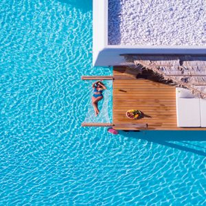 Greece Honeymoon Packages Stella Island Crete Pool Aerial View