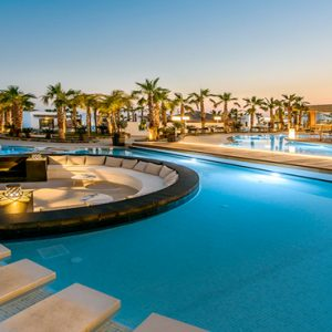 Greece Honeymoon Packages Stella Island Crete Pool At Night
