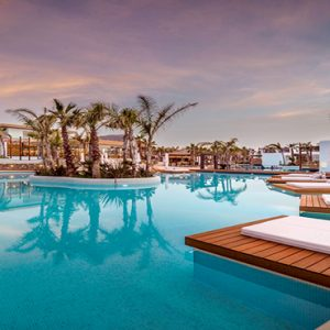 Greece Honeymoon Packages Stella Island Crete Pool At Night1