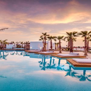 Greece Honeymoon Packages Stella Island Crete Pool At Sunset