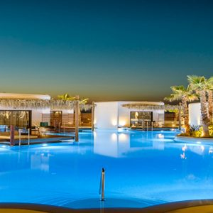 Greece Honeymoon Packages Stella Island Crete Villa Pool At Night
