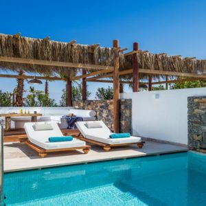 Greece Honeymoon Packages Stella Island Crete Relaxing Area By Villa Pool