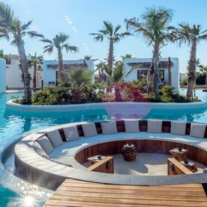 Greece Honeymoon Packages Stella Island Crete Seating Are In Pool