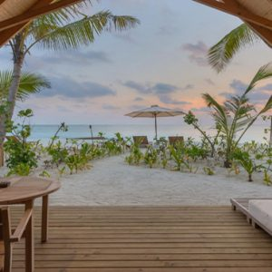 Maldives Honeymoon Packages Fushifaru Beach Villa Sunset1