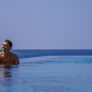 Maldives Honeymoon Packages Fushifaru Couple In Pool