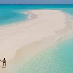 Maldives Honeymoon Packages Fushifaru Couple Romantic Stroll On The Sandbank