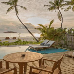 Maldives Honeymoon Packages Fushifaru Pool Beach Villa Sunrise2