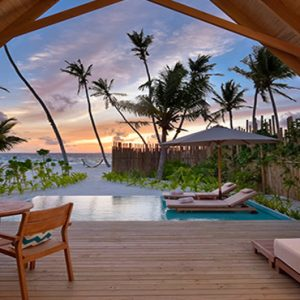 Maldives Honeymoon Packages Fushifaru Pool Beach Villa Sunset