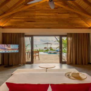 Maldives Honeymoon Packages Fushifaru Pool Beach Villa Sunset1