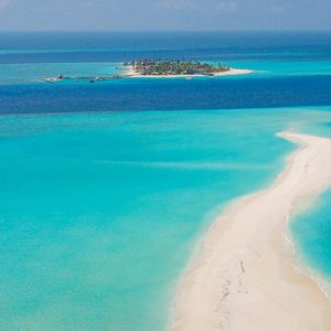Maldives Honeymoon Packages Fushifaru Sandbank Aerial View