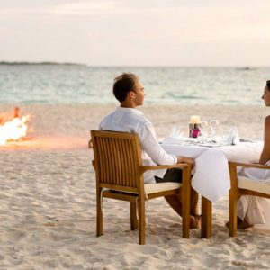 Maldives Honeymoon Packages Reethi Faru Resort Romantic Dining On Beach