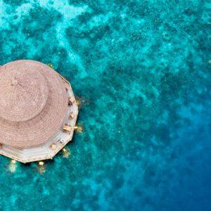 Maldives Honeymoon Packages Reethi Faru Resort Aerial View Of Restaurant