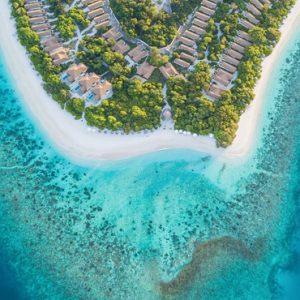 Maldives Honeymoon Packages Reethi Faru Resort Aerial View1