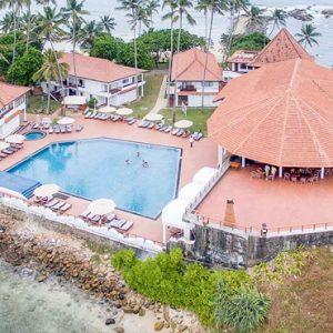 Sri Lanka Honeymoon Packages Dickwella Resort And Spa Hotel Pool Aerial View