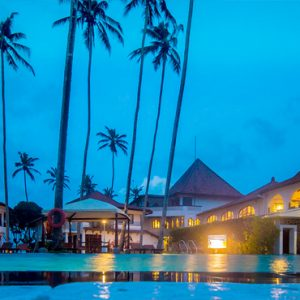 Sri Lanka Honeymoon Packages Dickwella Resort And Spa Pool At Night