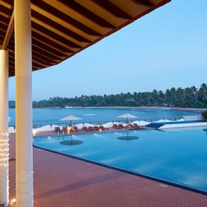 Sri Lanka Honeymoon Packages Dickwella Resort And Spa Restaurant Pool At Night2