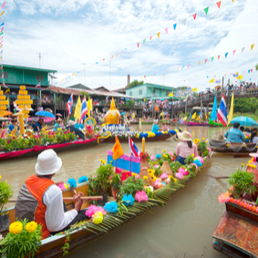 Damnern Saduak Floating Market - Thailand Honeymoon Packages and Excursions