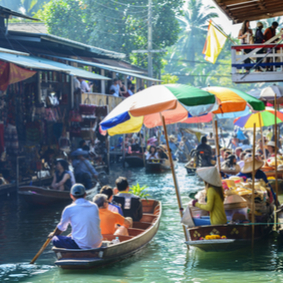 Floating Markets and Bridge on the River Kwai - Thailand Honeymoon Packages and Excursions