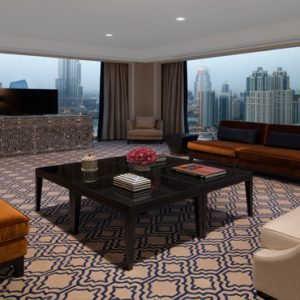 Dubai Honeymoon Packages Taj Dubai Grand Luxury Suite Burj View1