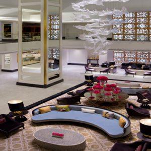 Dubai Honeymoon Packages Taj Dubai Lobby Top View