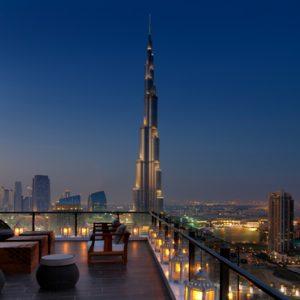 Dubai Honeymoon Packages Taj Dubai Maharaja Terrace