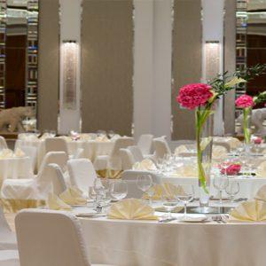 Dubai Honeymoon Packages Taj Dubai Wedding Dining Setup