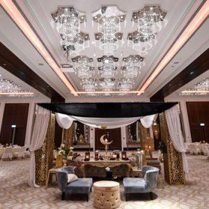 Dubai Honeymoon Packages Taj Dubai Wedding Dining Setup2
