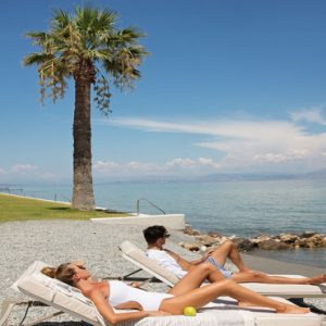 Greece Honeymoon Packages Domes Miramare, Corfu Beach Loungers