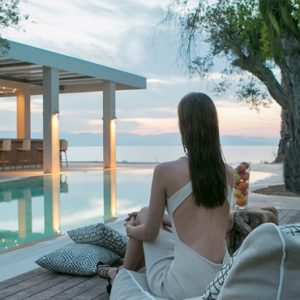 Greece Honeymoon Packages Domes Miramare, Corfu Woman By Pool