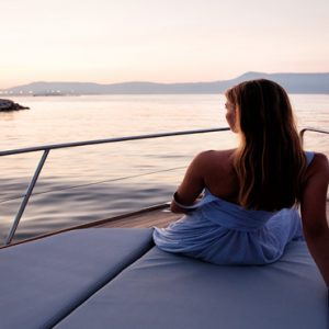 Greece Honeymoon Packages Domes Miramare, Corfu Woman On Yacht1