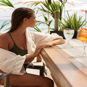 Greece Honeymoon Packages Domes Miramare, Corfu Couple At Pool Bar