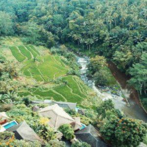 Luxury Bali Honeymoon Packages Kupu Kupu Barong Villas Aerial View