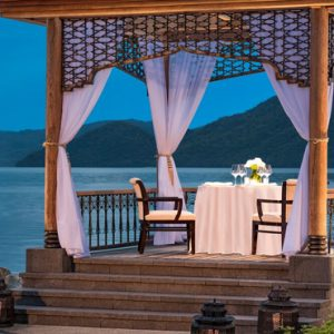 Malaysia Honeymoon Packages St Regis Langkawi Beach Cabana Sunset Dining