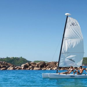 Mexico Honeymoon Packages Secrets Huatulco Resorts & Spa Couple Hobie Cat