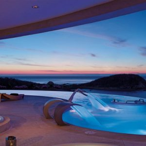 Mexico Honeymoon Packages Secrets Huatulco Resorts & Spa Spa Pool At Night1