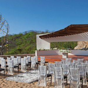 Mexico Honeymoon Packages Secrets Huatulco Resorts & Spa Wedding Setup