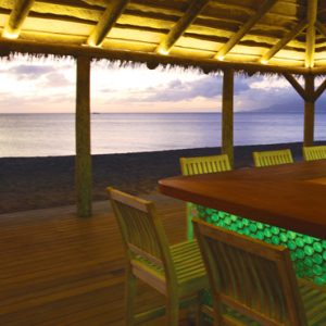 Nevis Honeymoon Packages Paradise Beach Nevis Resort Beach Bar At Night1