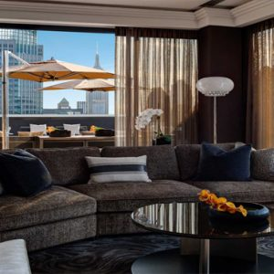 New York Honeymoon Packages Lotte New York Palace Chic Couches In Suite With Outside Views