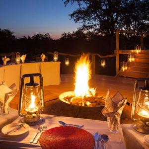 South Africa Honeymoon Packages Thornybush Game Reserve Dining 3
