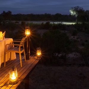 South Africa Honeymoon Packages Thornybush Game Reserve Dining 4