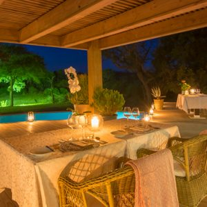 South Africa Honeymoon Packages Thornybush Game Reserve Dining 6