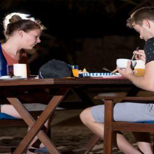 Sri Lanka Honeymoon Packages Dolphin Beach Resort Kalpitiya Couple Dining At Night
